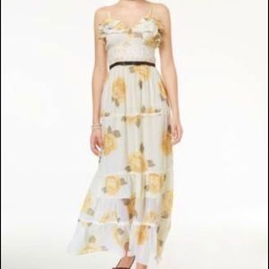 Disney beauty & the beast ruffled floral maxi S